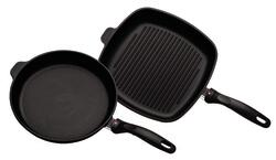 Swiss Diamond - XD stege- og grillpande - Ø 28 og 25x25 cm - non-stick